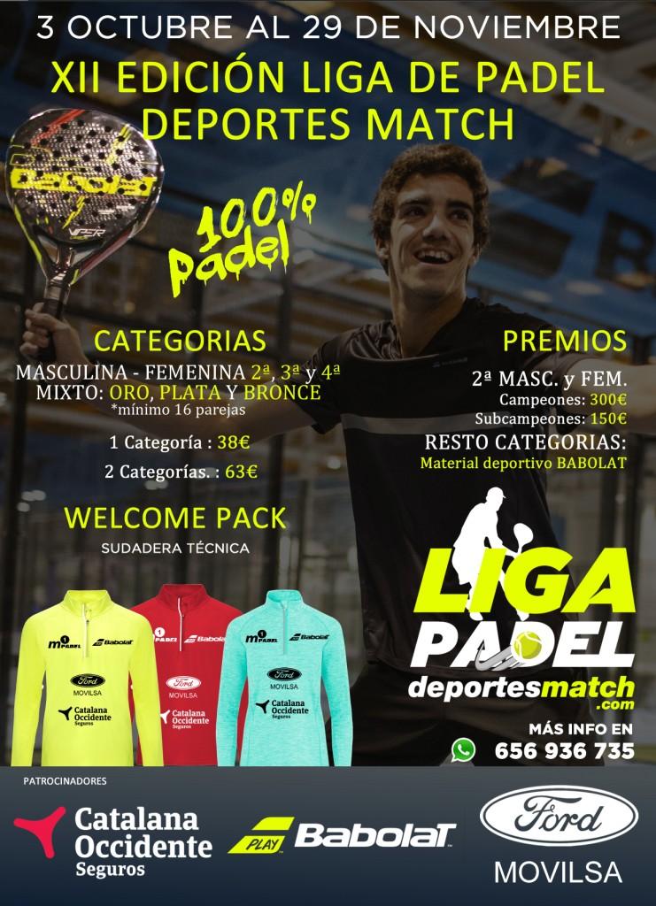 XII Edición de la Liga de padel Deportes Match por Parejas