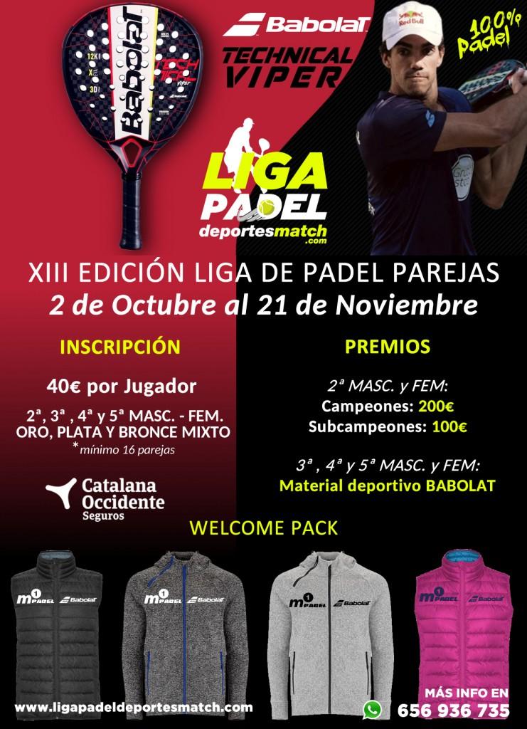 Cartel 6ª Edición de la Liga de padel Por Equipos - Deportes Match