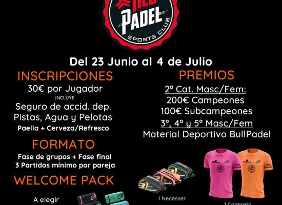 1er Torneo Red Padel – Últimos días de inscripción