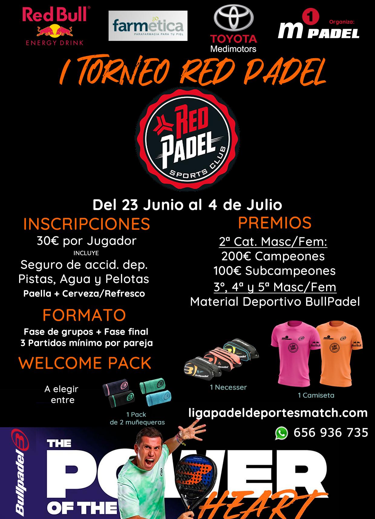 Cartel del 1er Torneo Red Padel