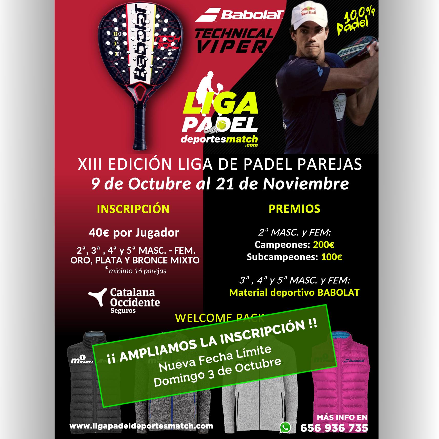 XIII Edición Liga de Padel Deportes Match por Parejas
