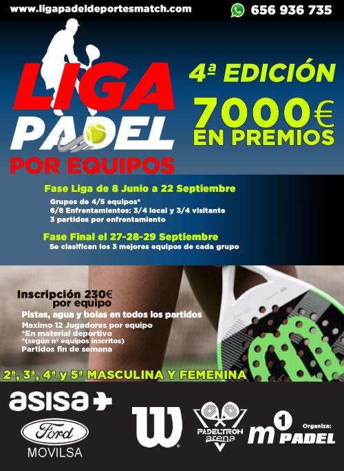 4ª Edición de la liga de padel por equipos Deportes Match